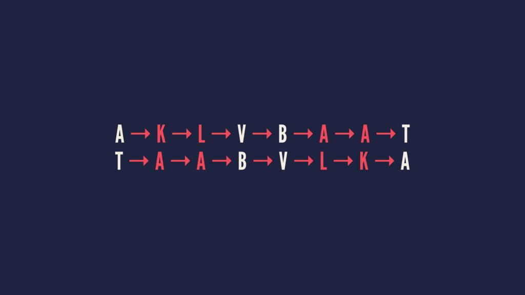 A → K → L → V → B → A → A → T T → A → A → B → V...