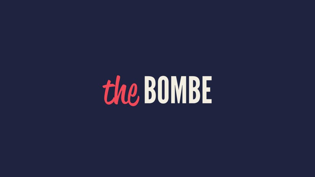 the BOMBE