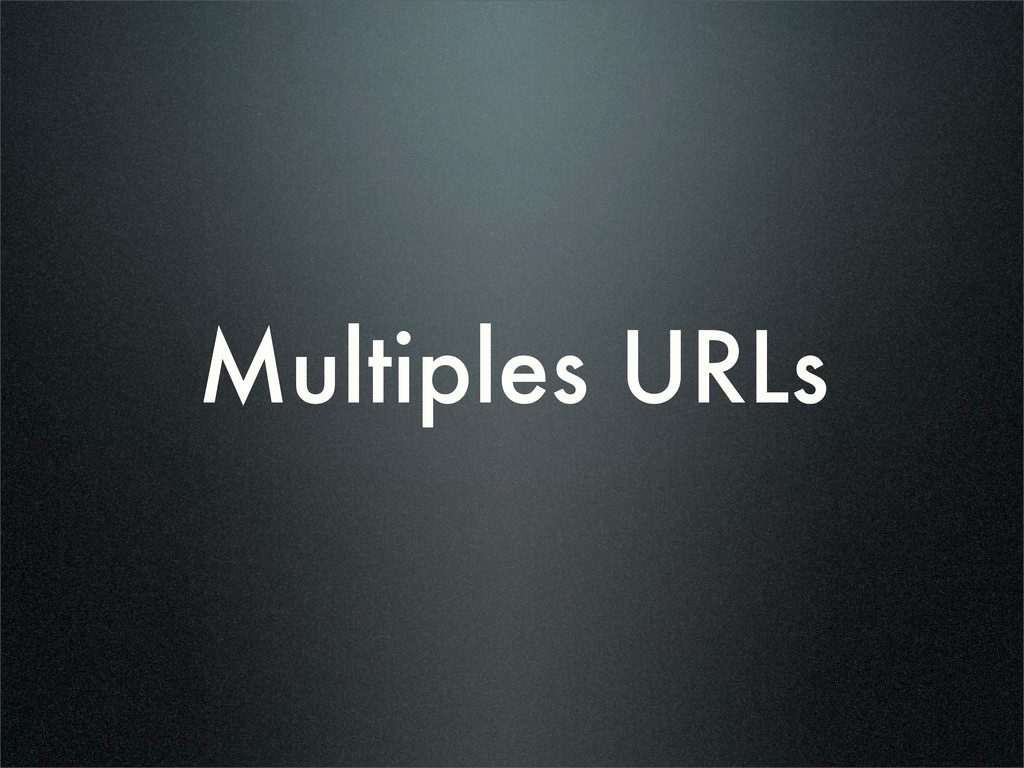 Multiples URLs