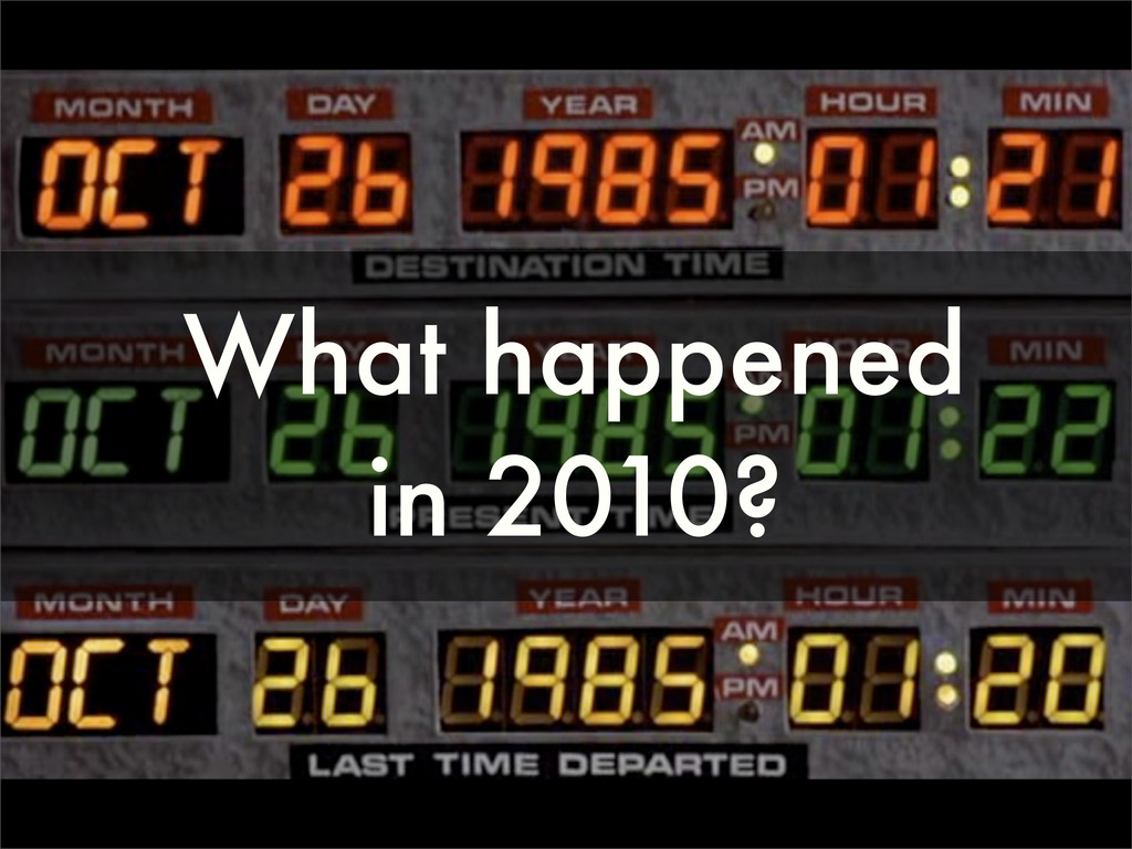 What happened in 2010?