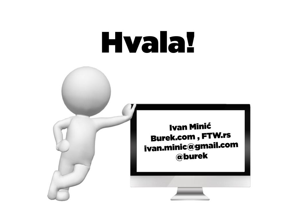 Hvala! Ivan Minić Burek.com , FTW.rs ivan.minic...
