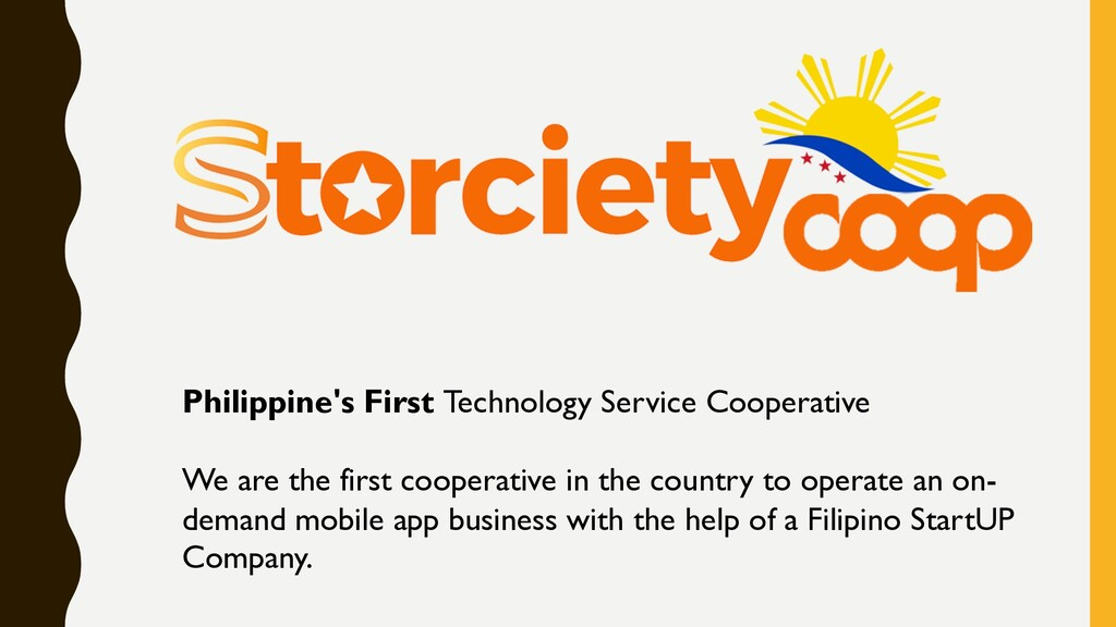 Philippine's First Technology Service Cooperati...