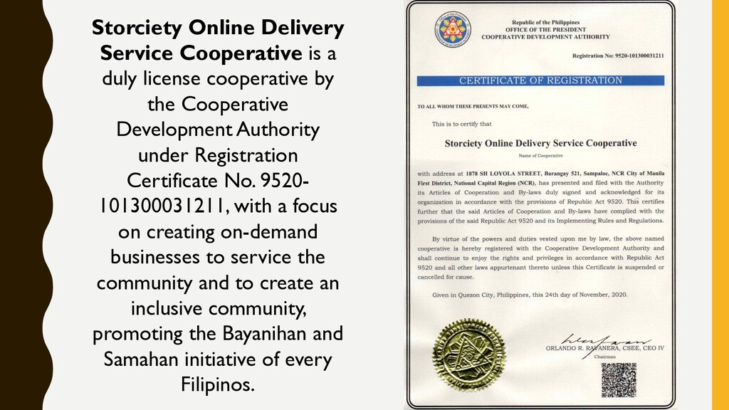 Storciety Online Delivery Service Cooperative i...