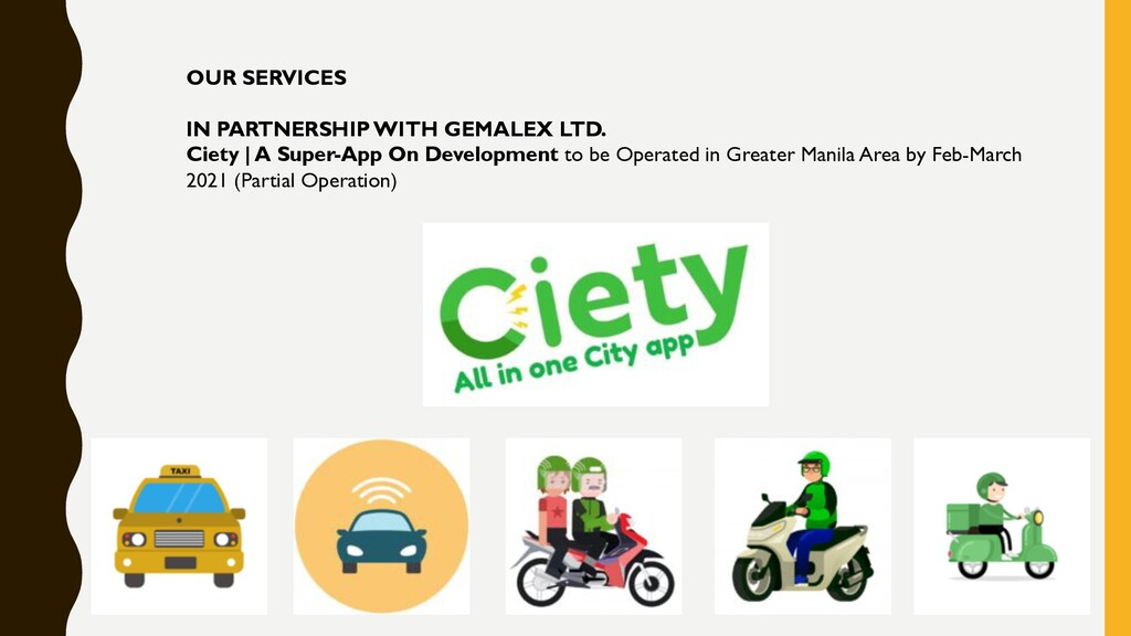 OUR SERVICES IN PARTNERSHIP WITH GEMALEX LTD. C...