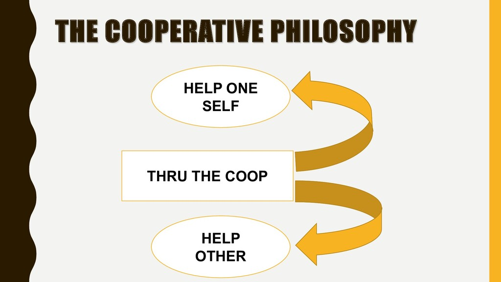 THE COOPERATIVE PHILOSOPHY HELP ONE SELF THRU T...