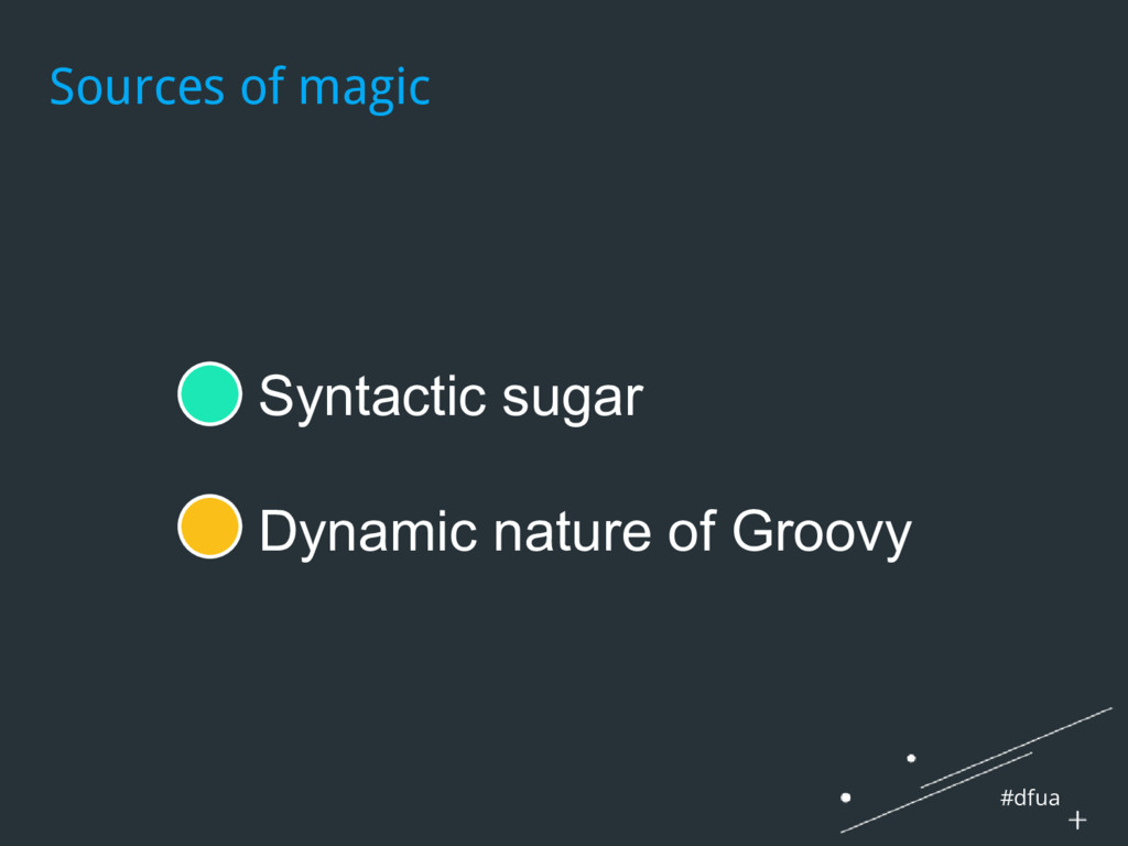 #dfua ● Syntactic sugar ● Dynamic nature of Gro...