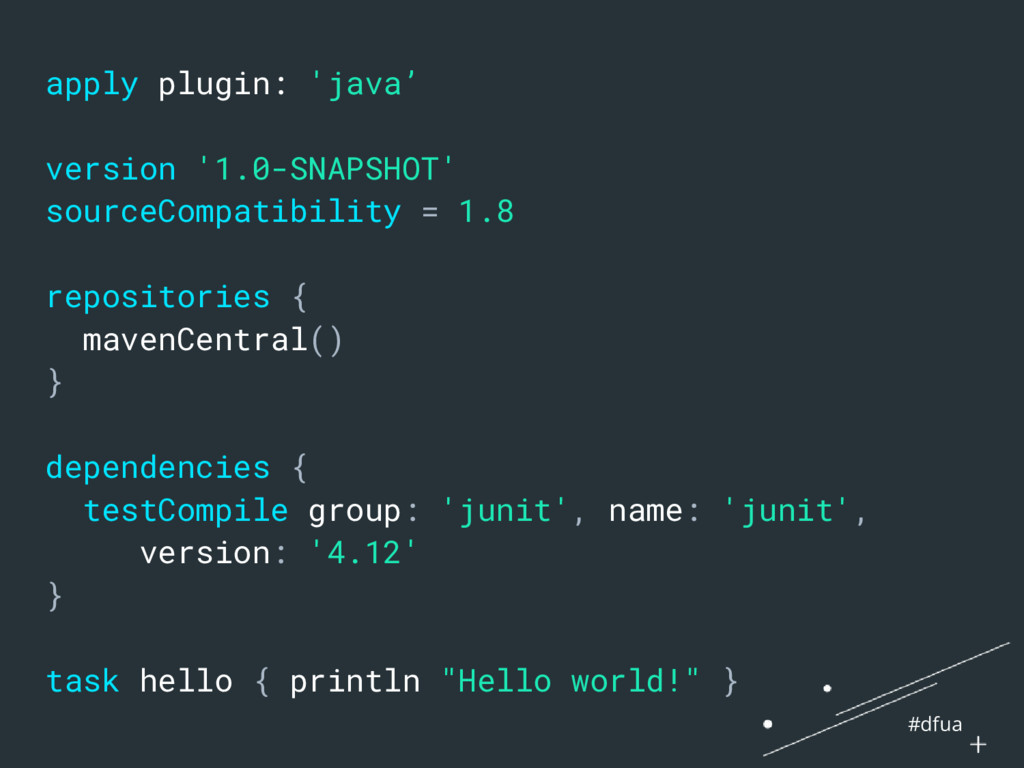 #dfua apply plugin: 'java' version '1.0-SNAPSHO...