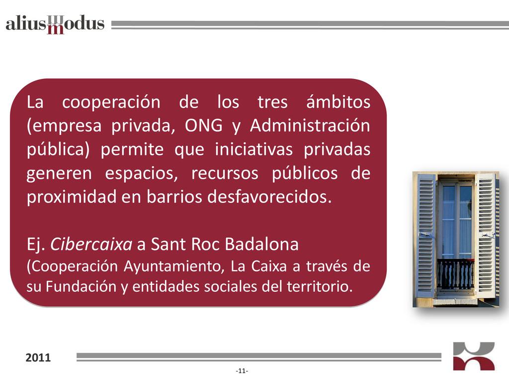 2011 -11- La cooperación de los tres ámbitos (e...
