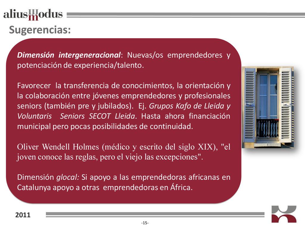 2011 -15- Sugerencias: Dimensión intergeneracio...