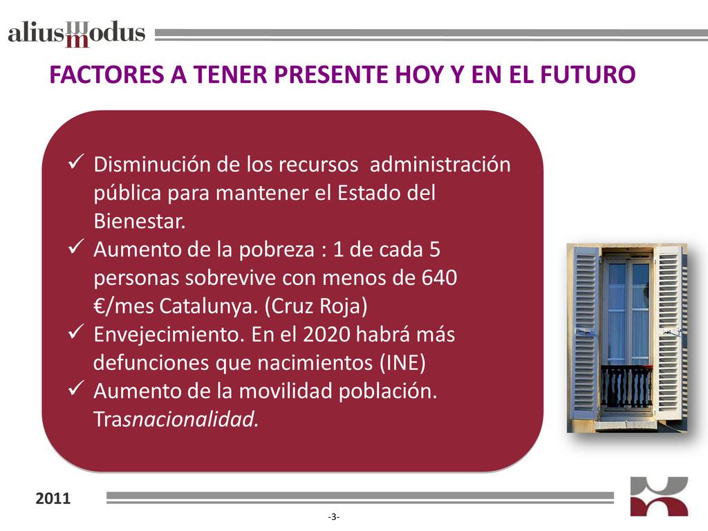 2011 -3- FACTORES A TENER PRESENTE HOY Y EN EL ...