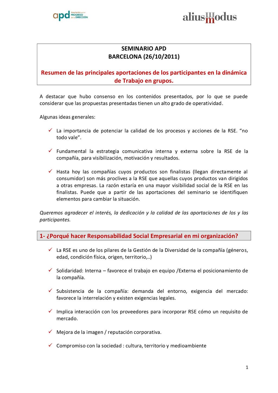 1 SEMINARIO APD BARCELONA (26/10/2011) Resumen ...