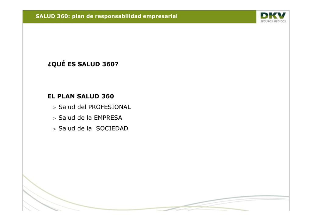 SALUD 360: plan de responsabilidad empresarial ...