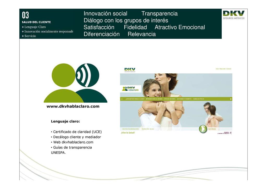 Innovación social Transparencia Diálogo con los...
