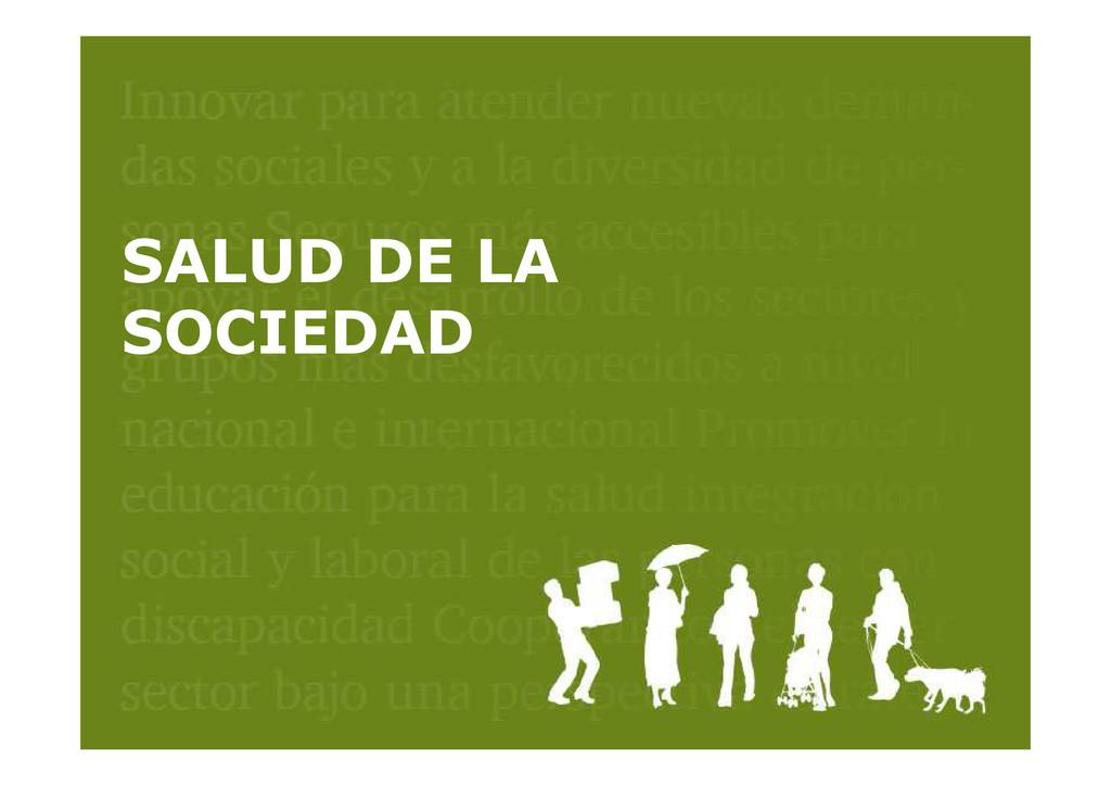 SALUD DE LA SOCIEDAD