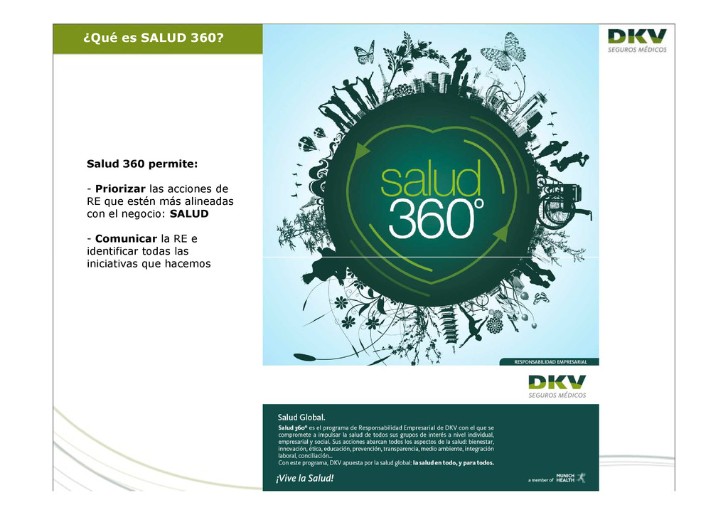 Salud 360 permite: - Priorizar las acciones de ...