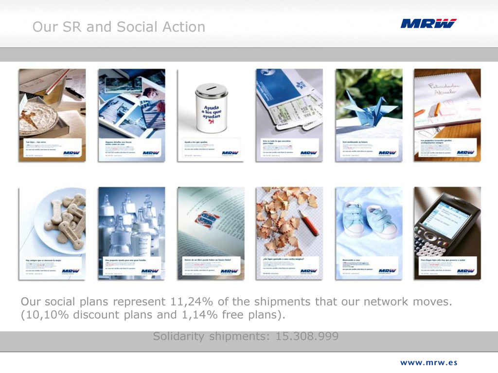 Our social plans represent 11,24% of the shipme...
