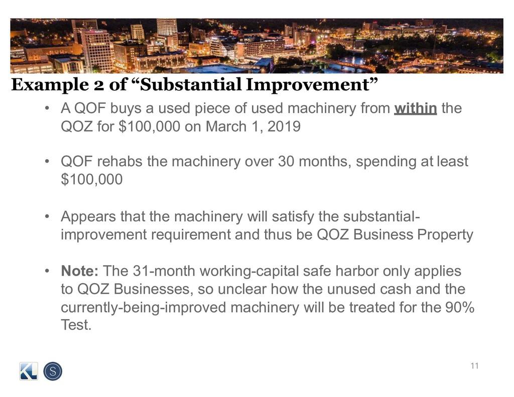 "Example 2 of ""Substantial Improvement"" • A QOF ..."