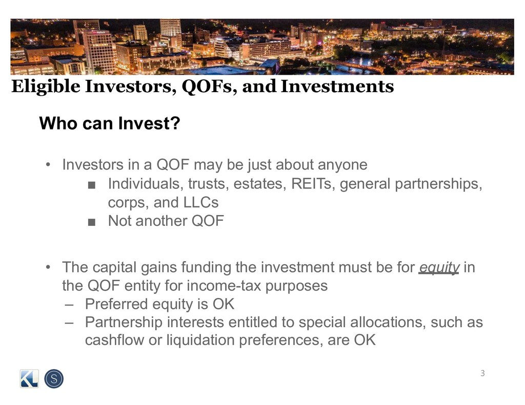 Eligible Investors, QOFs, and Investments Who c...