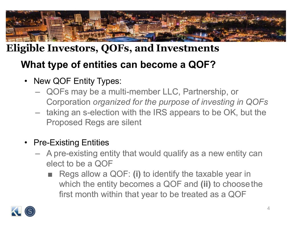 Eligible Investors, QOFs, and Investments What ...