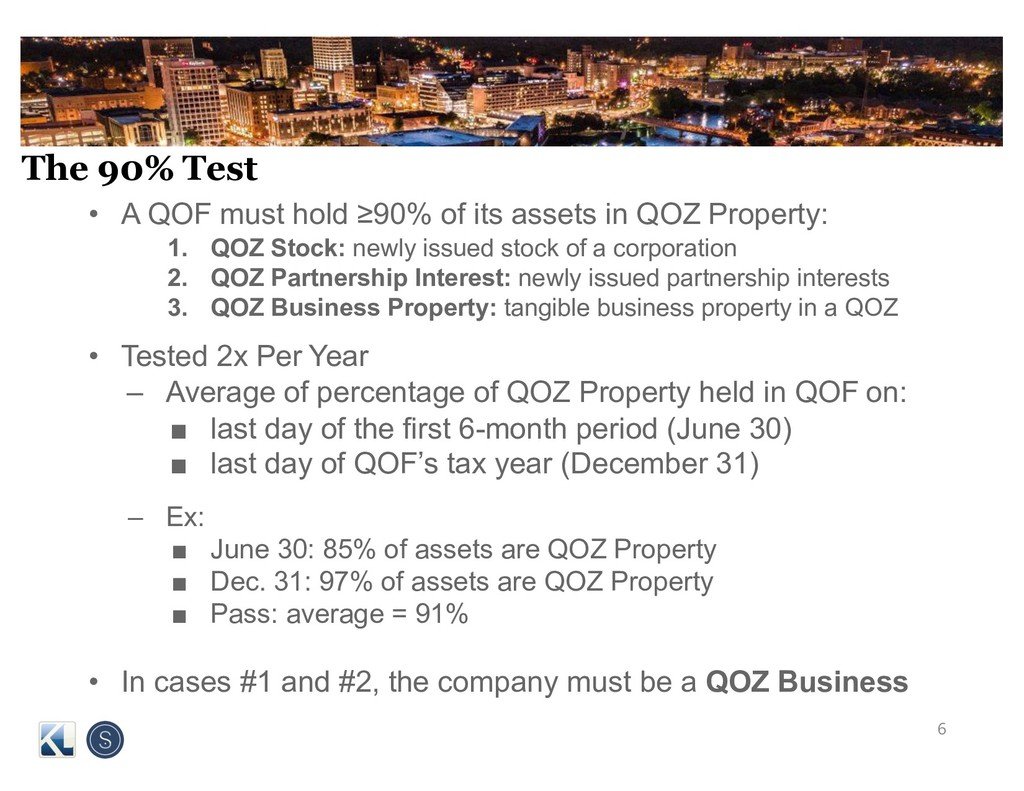 The 90% Test • A QOF must hold ≥90% of its asse...