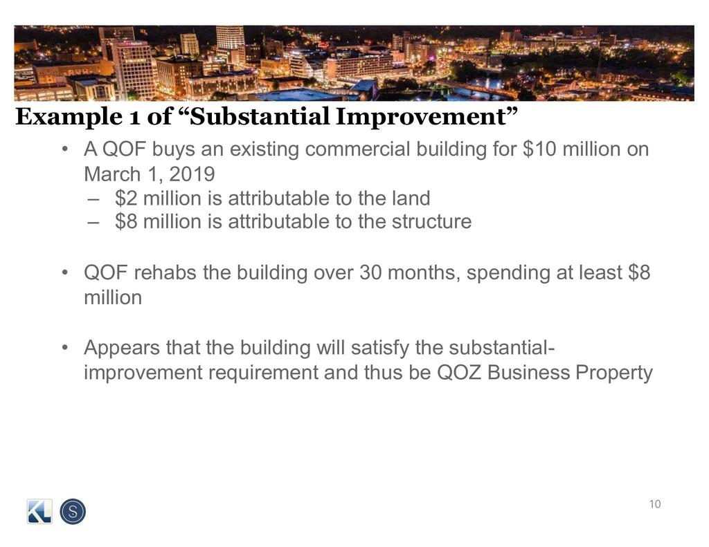 "Example 1 of ""Substantial Improvement"" • A QOF ..."