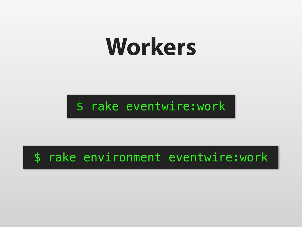 Workers $ rake eventwire:work $ rake environmen...