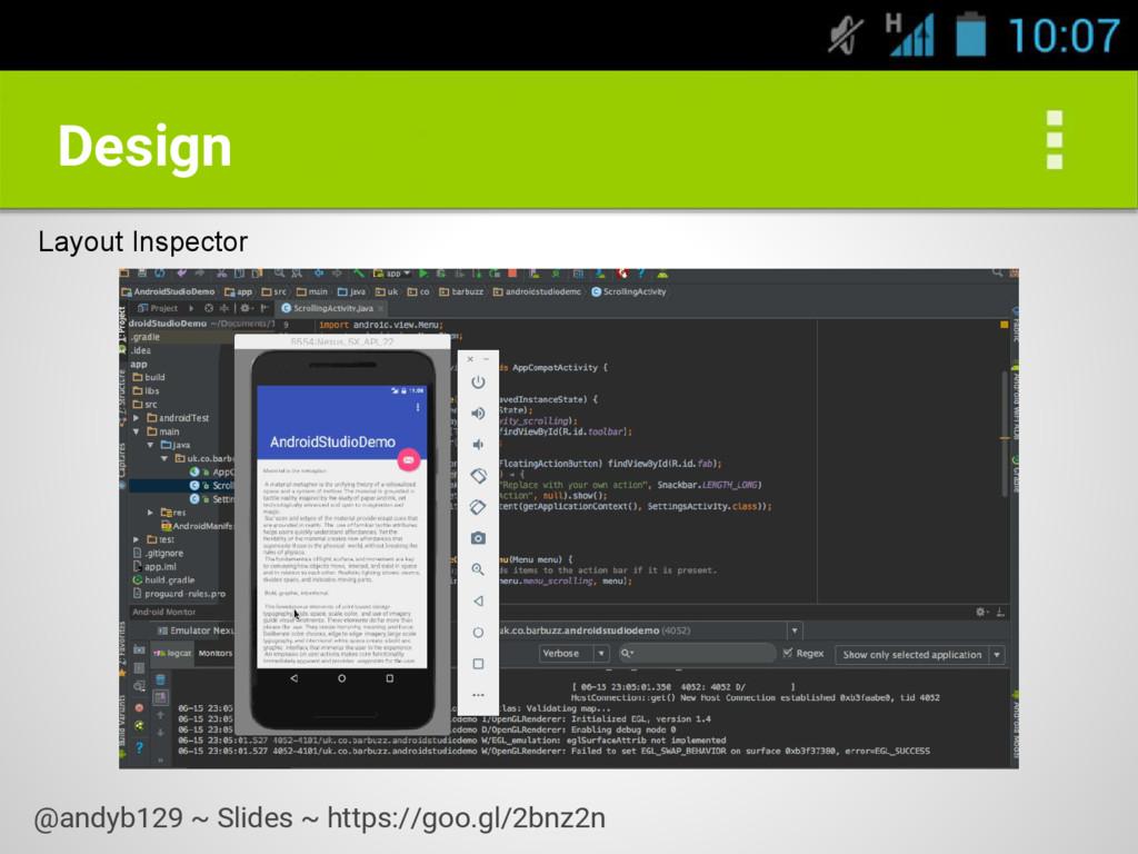 Design Layout Inspector @andyb129 ~ Slides ~ ht...