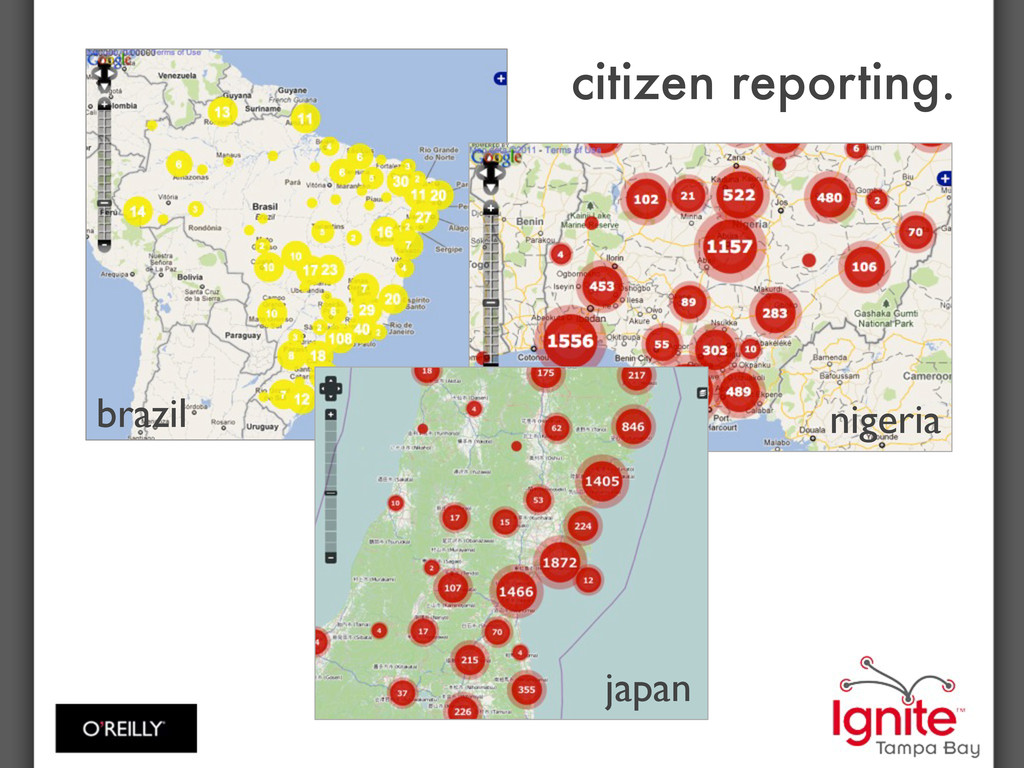 citizen reporting. brazil nigeria japan