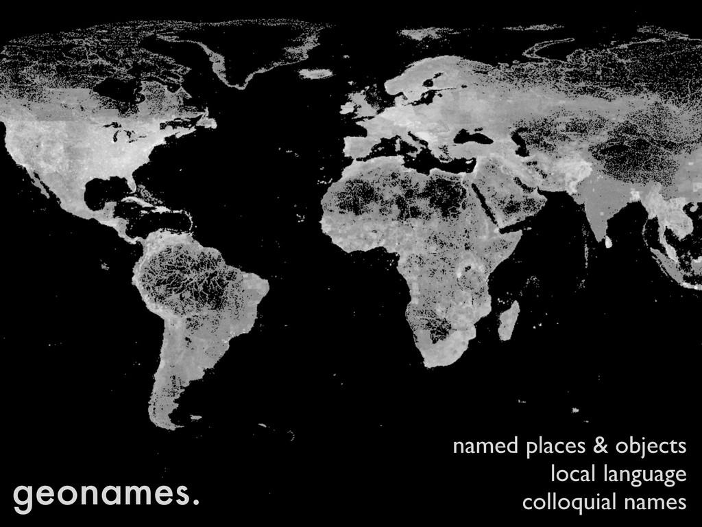 geonames. named places & objects local language...