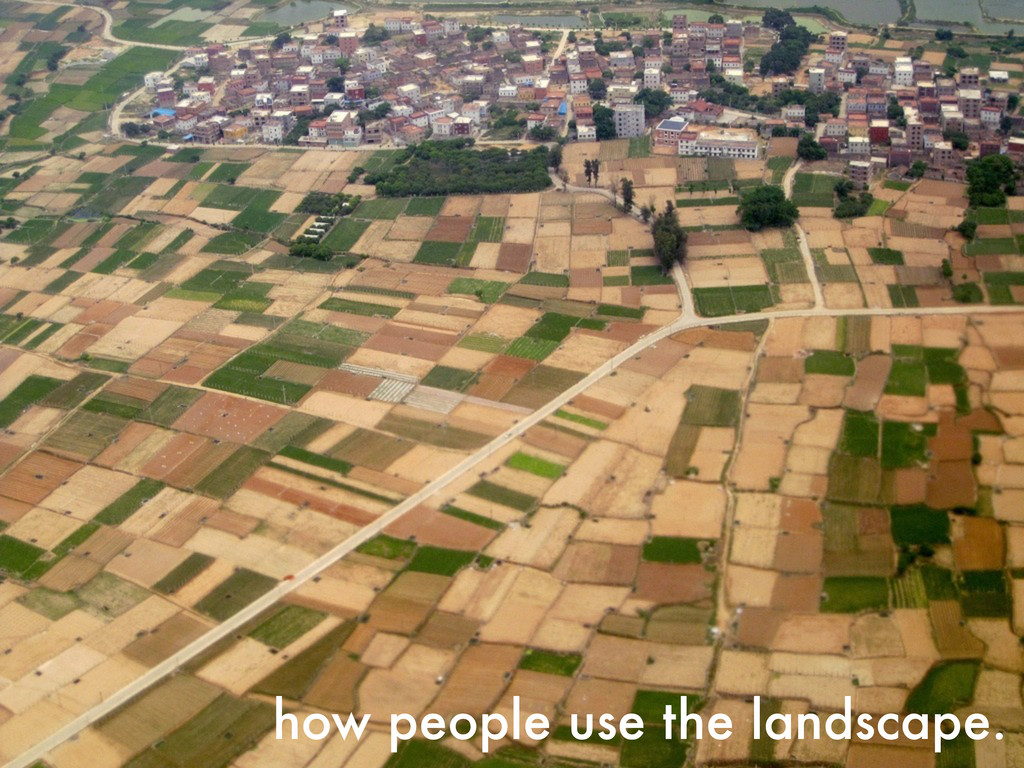 how people use the landscape.