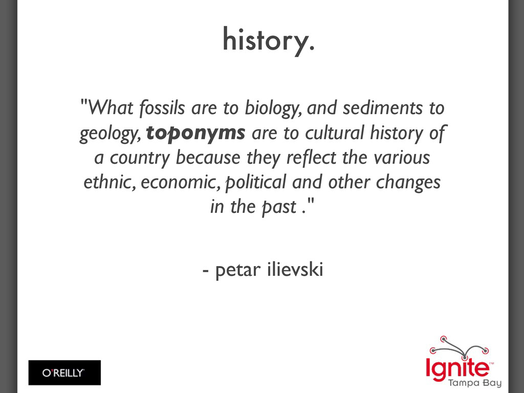 """history. """"What fossils are to biology, and sedi..."""