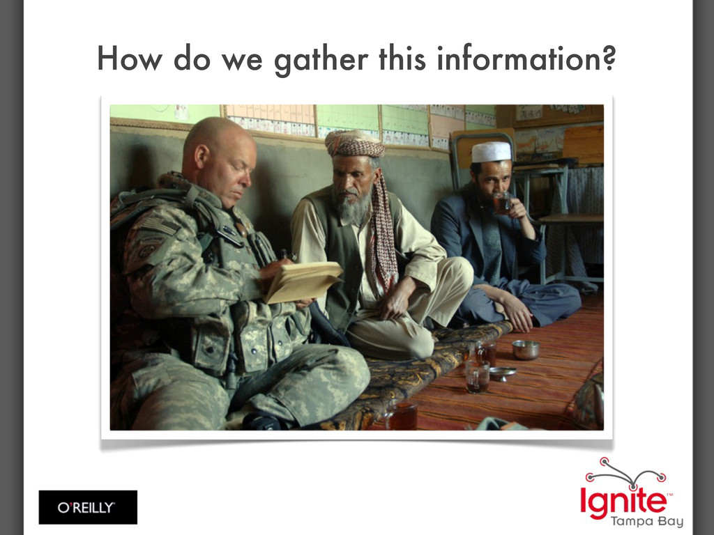 How do we gather this information?