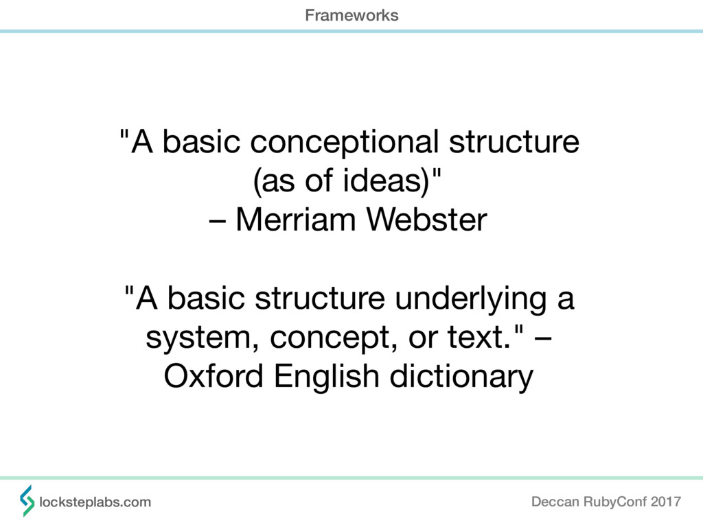 """""""A basic conceptional structure   (as of ideas)..."""