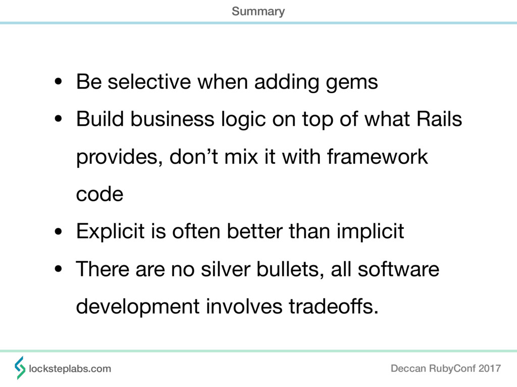 • Be selective when adding gems  • Build busine...