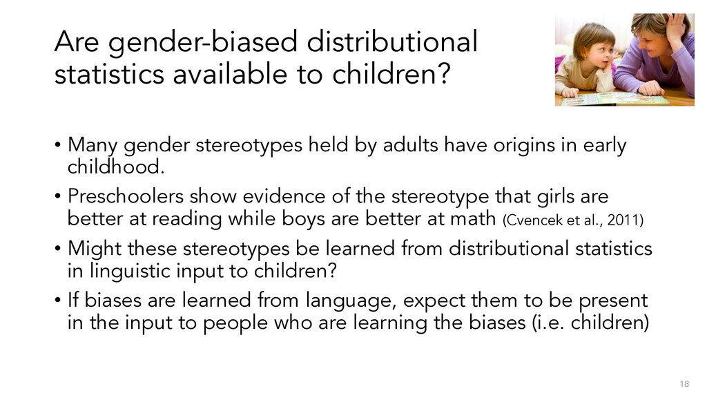 Are gender-biased distributional statistics ava...