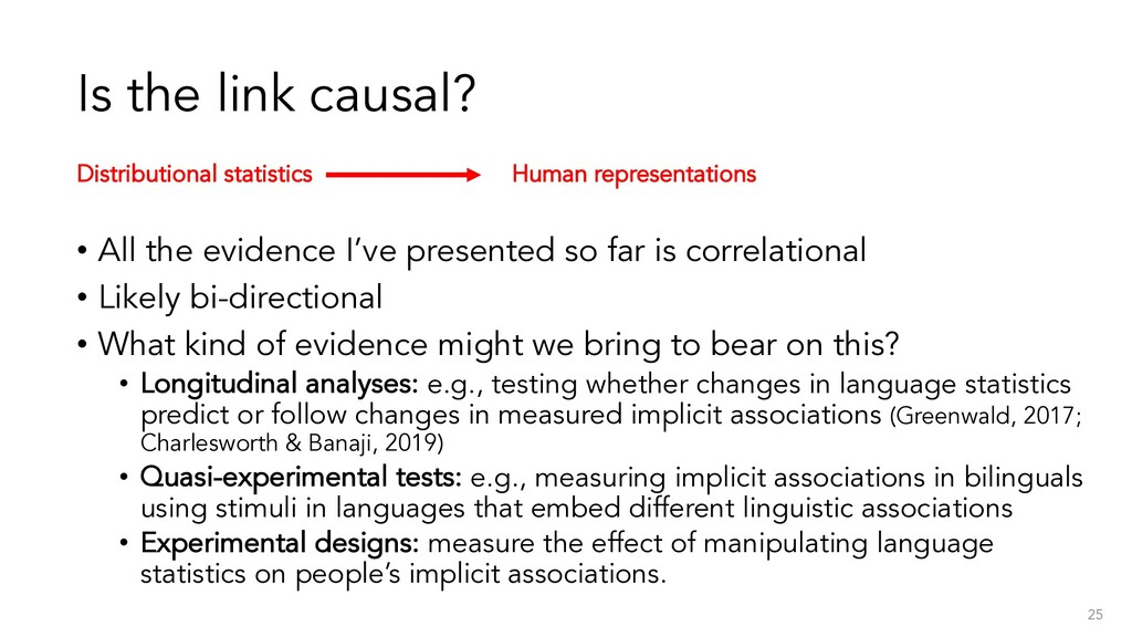 Is the link causal? • All the evidence I've pre...