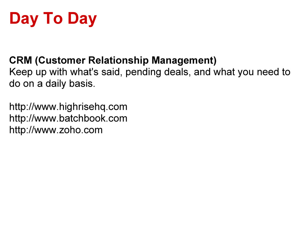 Day To Day CRM (Customer Relationship Managemen...