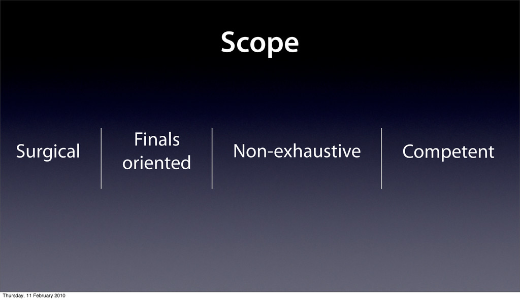 Scope Surgical Finals oriented Non-exhaustive C...