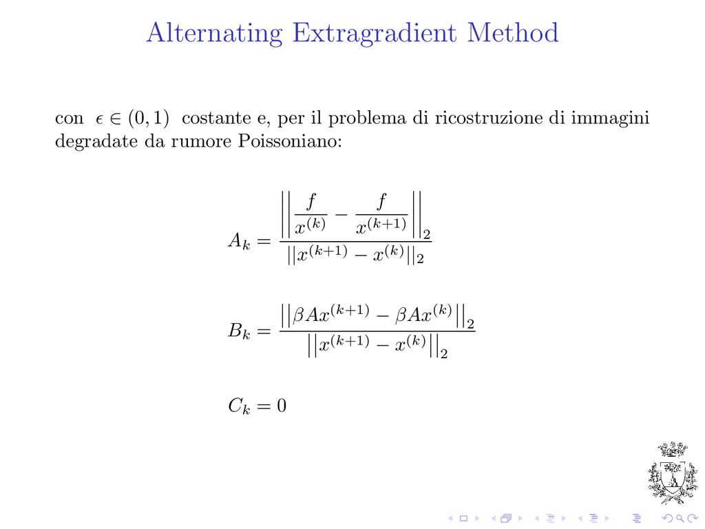 Alternating Extragradient Method con ∈ (0, 1) c...