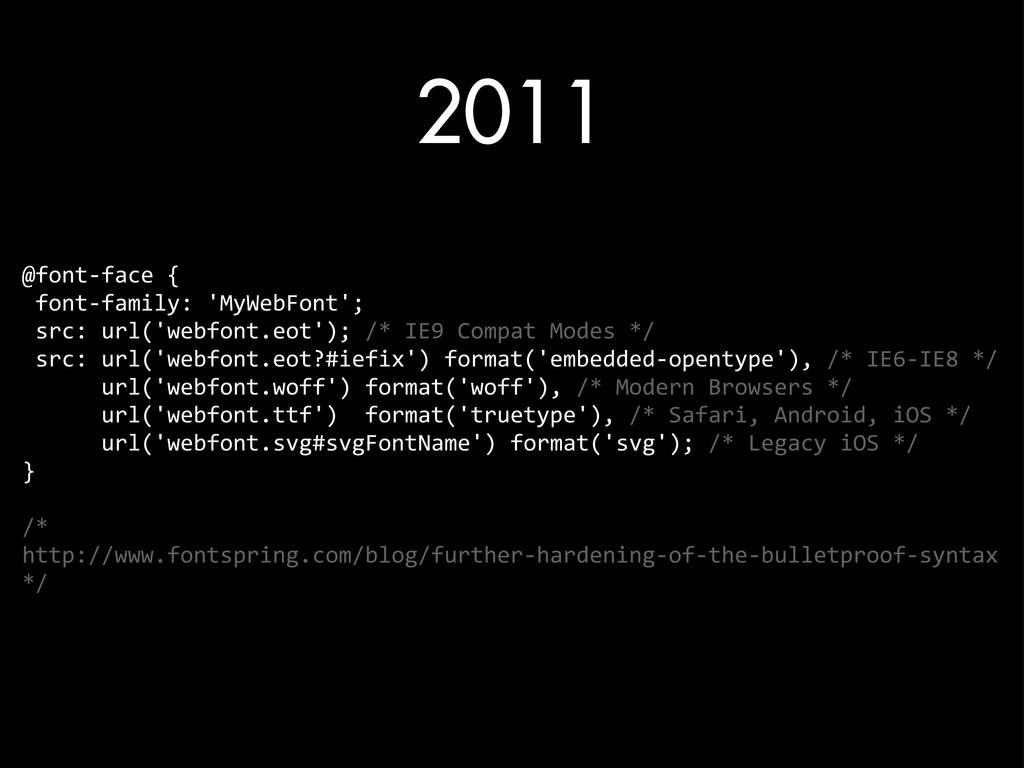 2011 @font-‐face {  font-‐family: 'M...