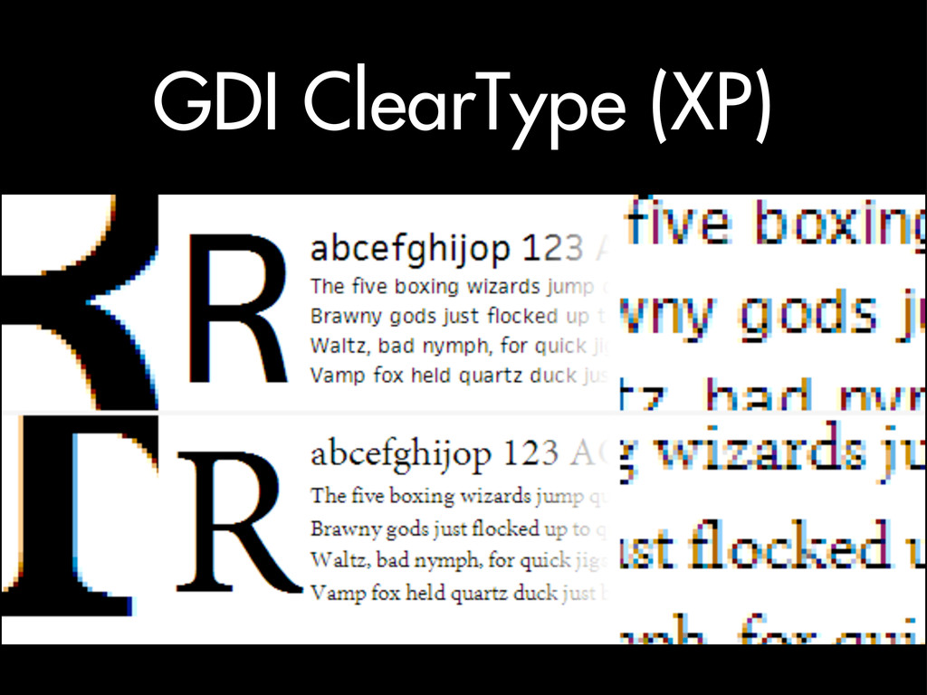 GDI ClearType (XP)