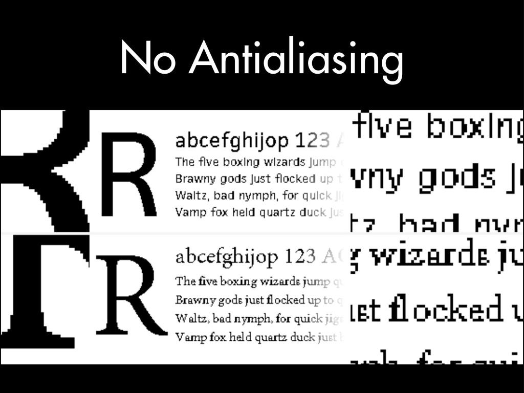 No Antialiasing