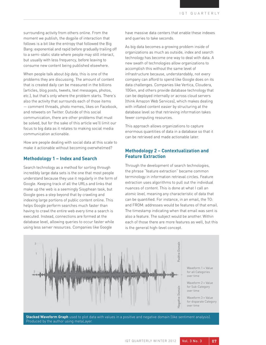 Vol. 3 No. 3 07 IQT QUARTERLY WINTER 2012 I Q T...