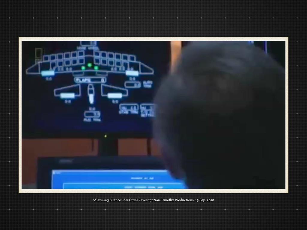 """Alarming Silence"" Air Crash Investigation. Cin..."