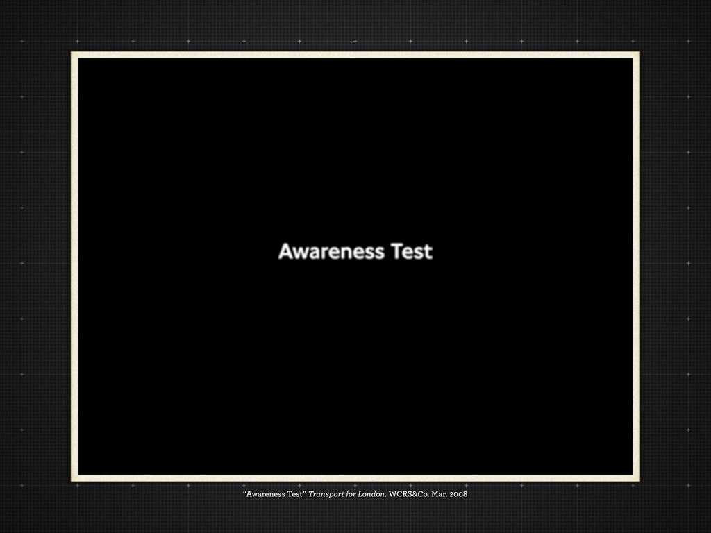 """Awareness Test"" Transport for London. WCRS&Co...."