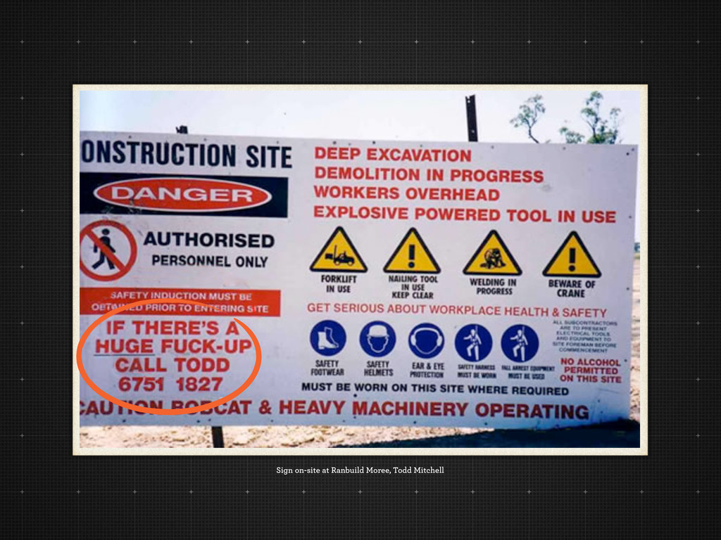 Sign on-site at Ranbuild Moree, Todd Mitchell