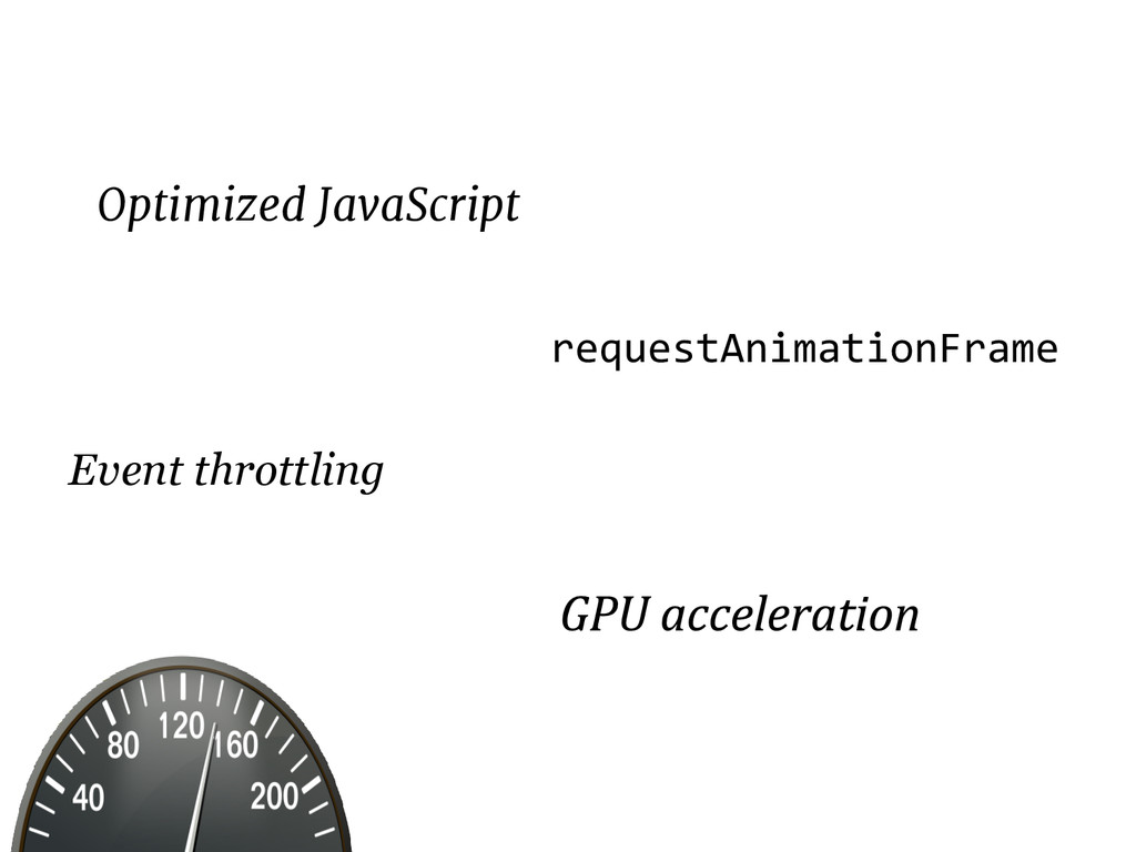 Optimized JavaScript requestAnimationFrame Even...