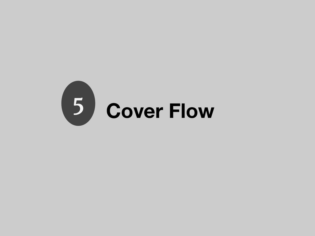 Cover Flow 5