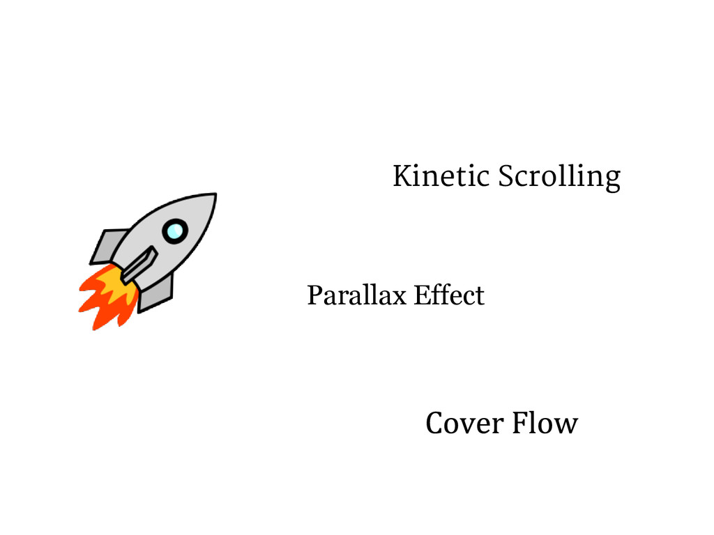 Kinetic Scrolling Parallax Effect
