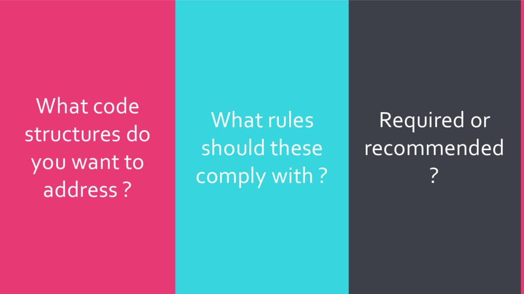 Required or recommended ? What rules should the...